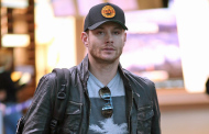 Supernatural's Jensen Ackles arriving at YVR 11/06/2014