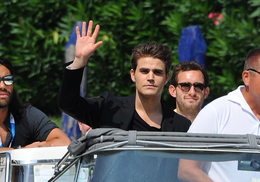 Paul Wesley arriving at the 71rst Venice Film Festival promoting his new movie 'Before I Disappear'