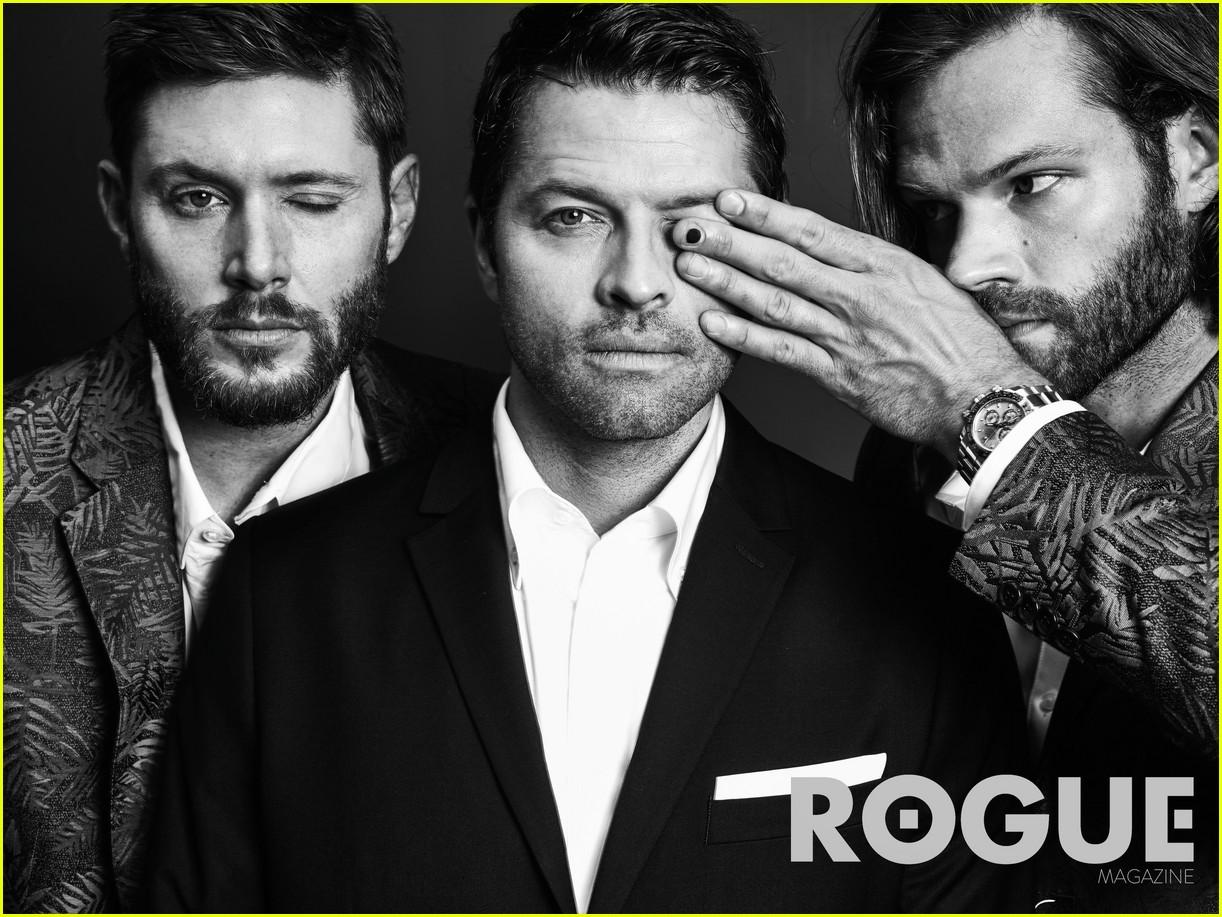 Supernatural's Jensen, Jared & Misha do Photoshoot for Rogue Magazine