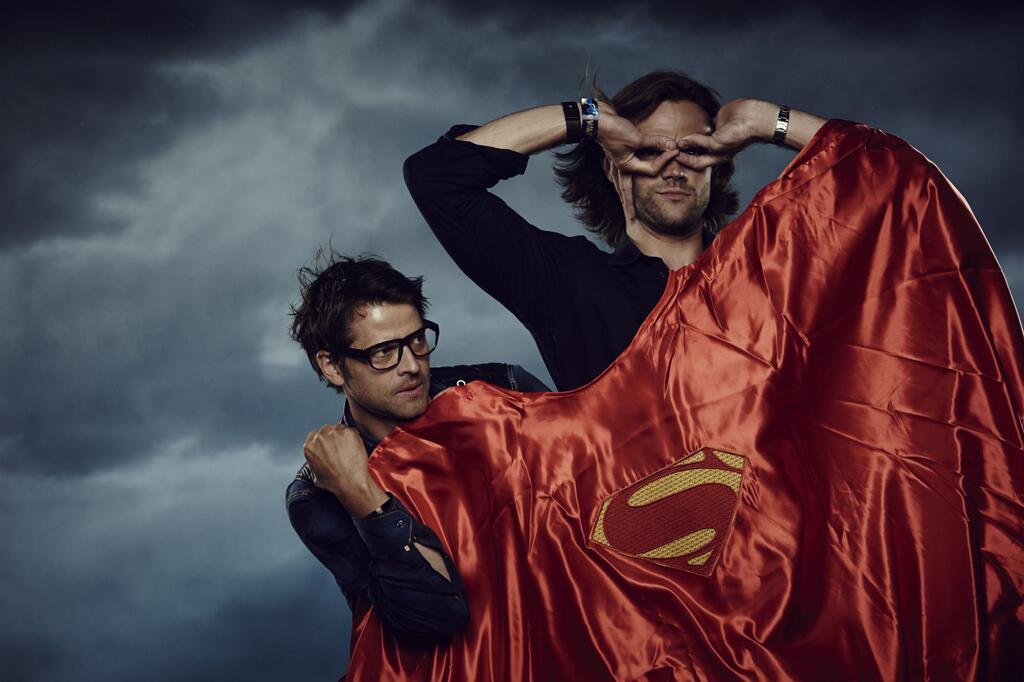 Misha Collins And Jared Padalecki Are Superheroes