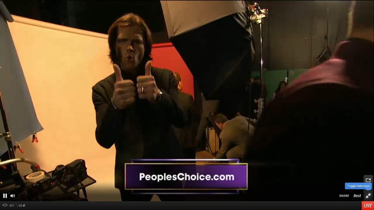 Supernatural at the PCAs 2013 - Videos, Tweets