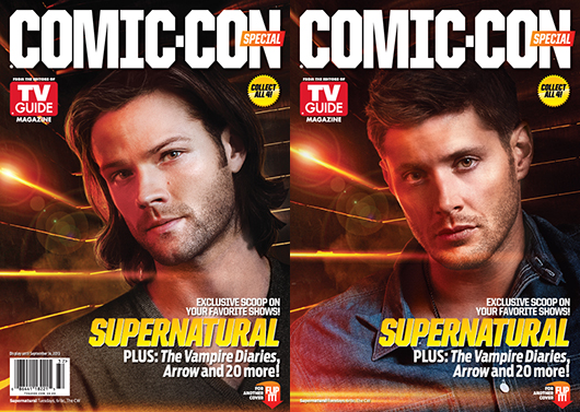 2013 WBSDCC TV Guide Covers - incl. Supernatural's Sam and Dean Winchester
